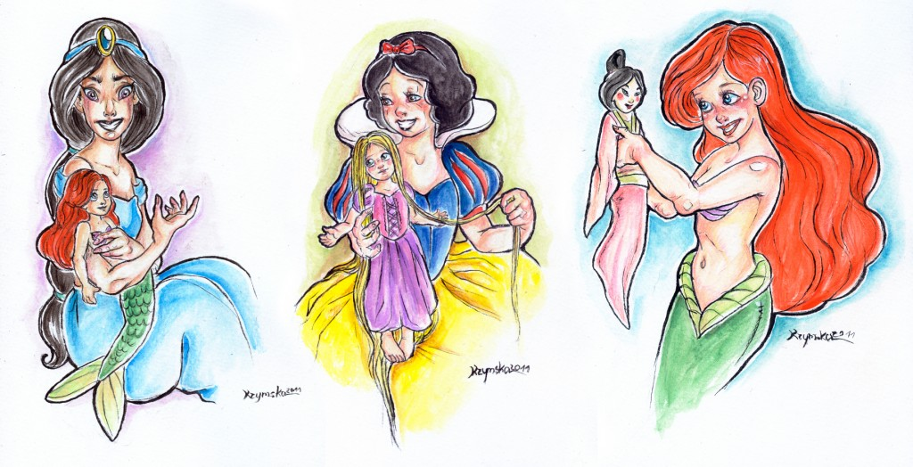 even_princess_loves_dolls_by_kamarza-d4d1n2w